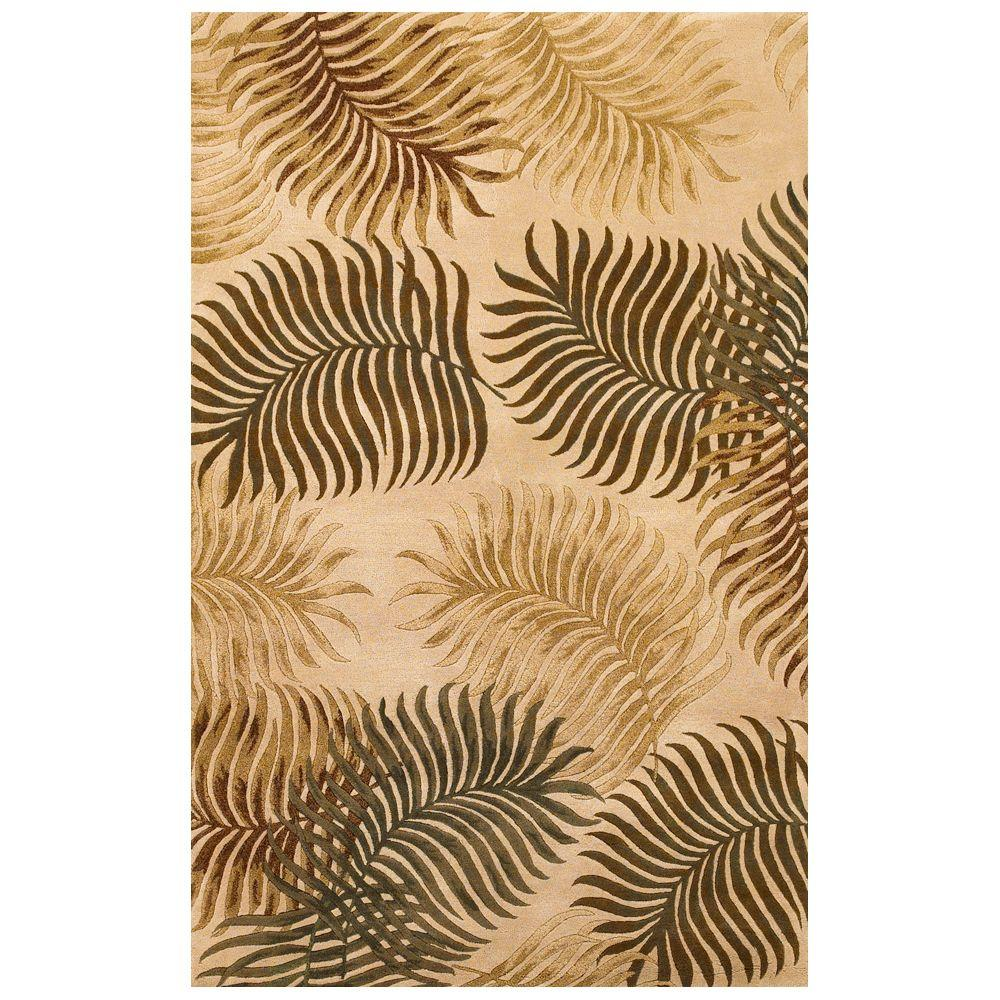 Kas Rugs Giant Fern Natural 3 ft. 3 in. x 5 ft. 3 in. Area Rug