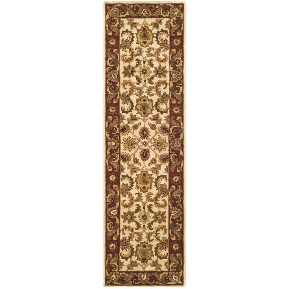 Classic Ivory/Red 2 ft. 3 in. x 8 ft. Runner