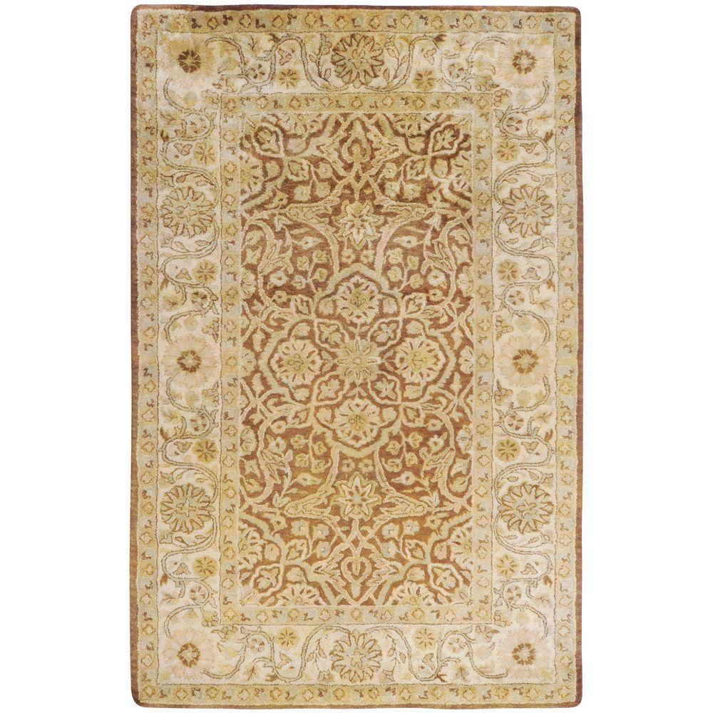 Rayen Brown 9 ft. x 13 ft. Area Rug