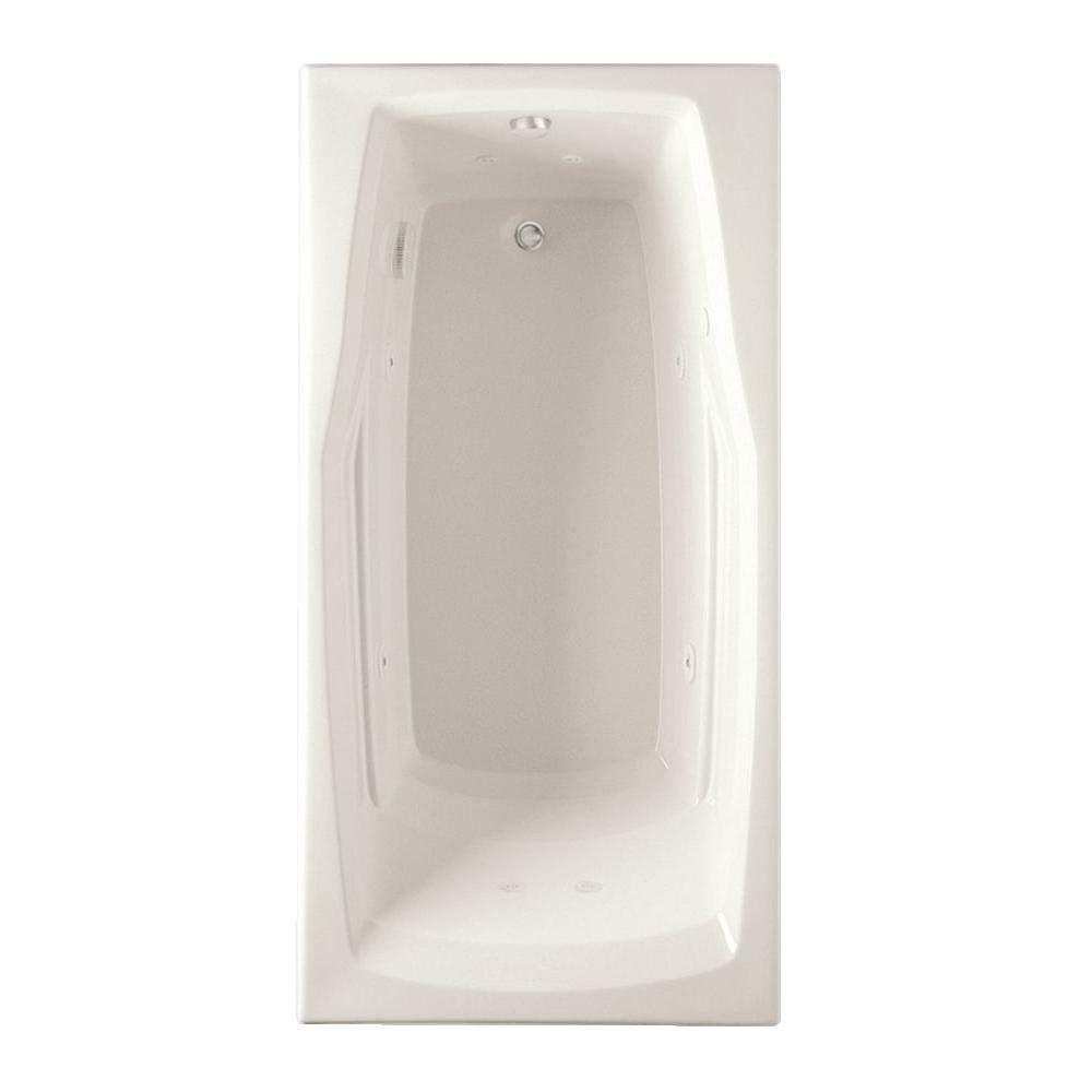 Deauville 5 ft. Reversible Drain Acrylic Whirlpool Bath Tub with Heater
