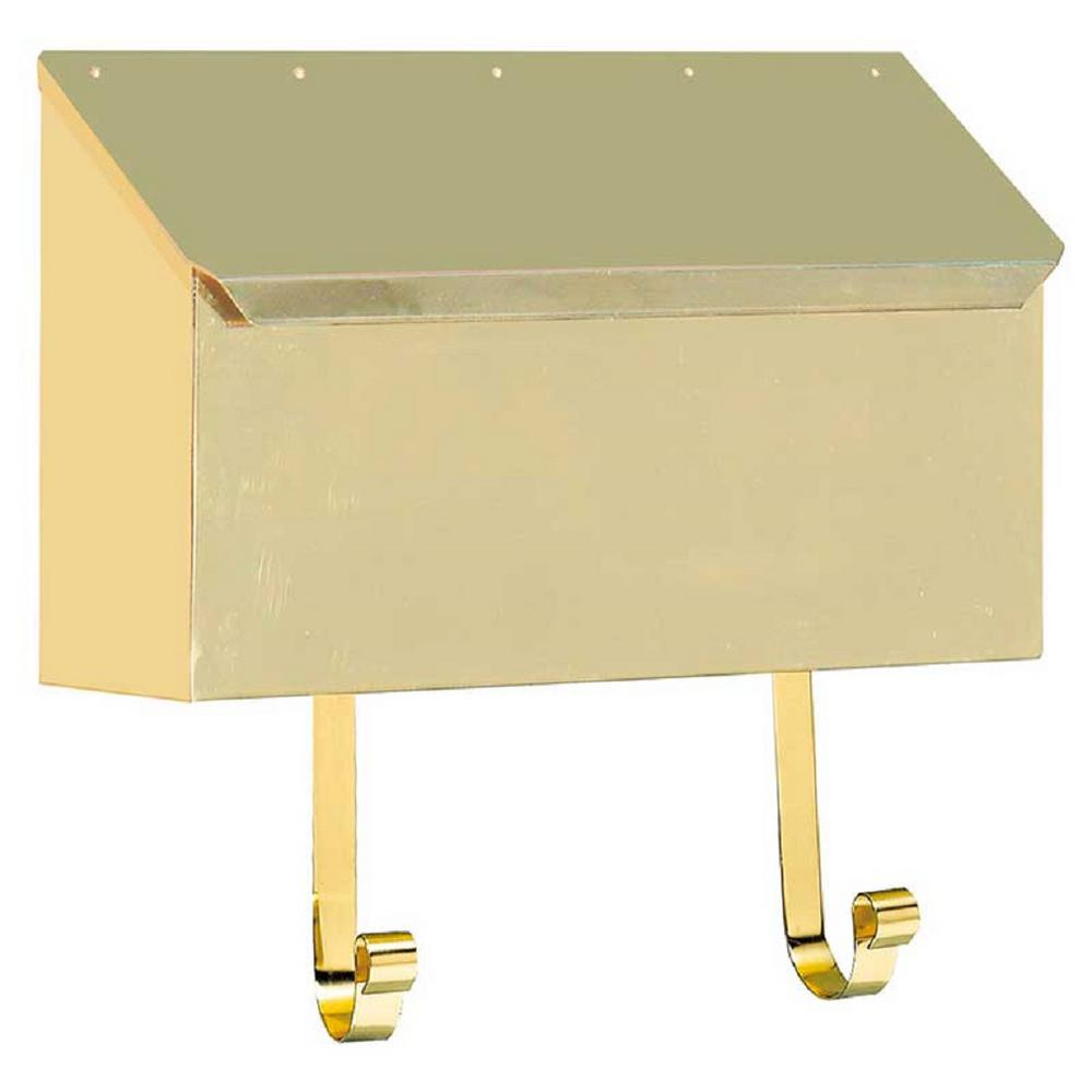 Polished Brass Vertical Wall Mount Non-Locking Mailbox
