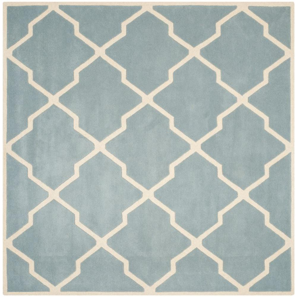 Chatham Blue/Ivory 4 ft. x 4 ft. Square Area Rug