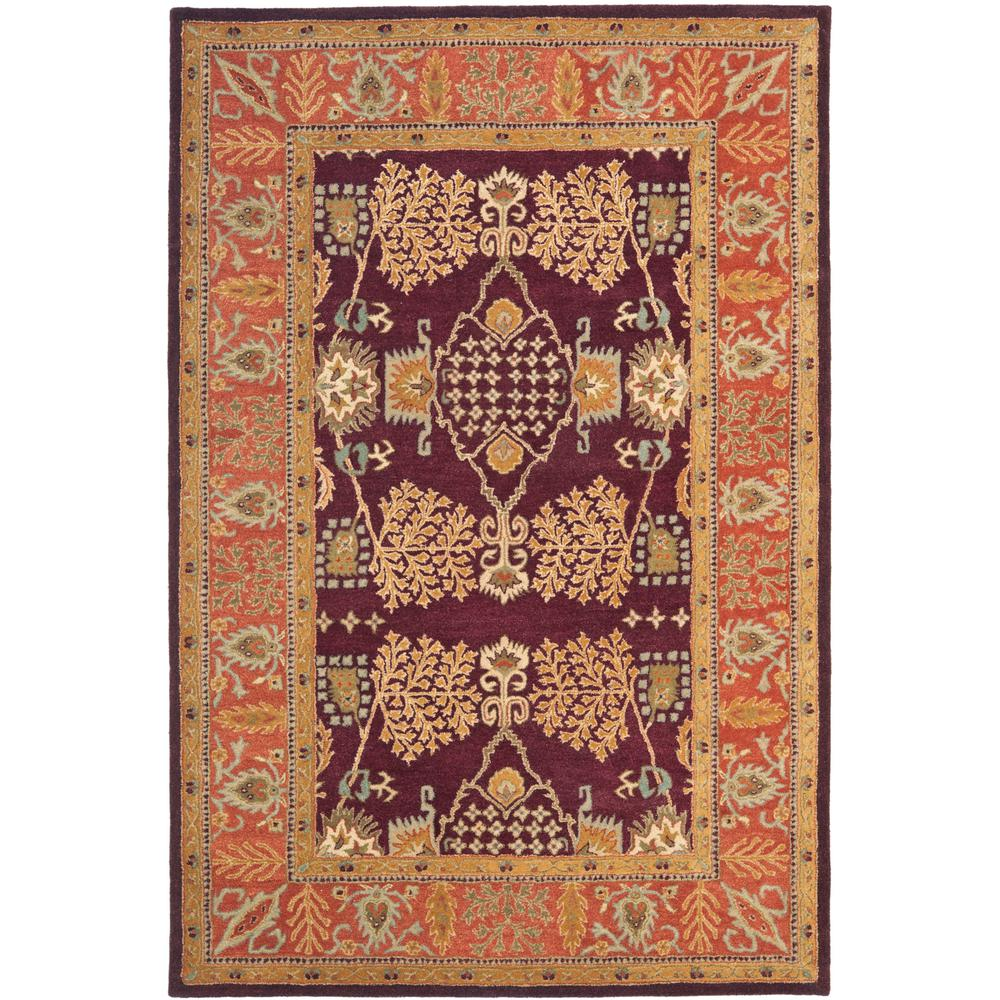 Bergama Red/Rust 4 ft. x 6 ft. Area Rug