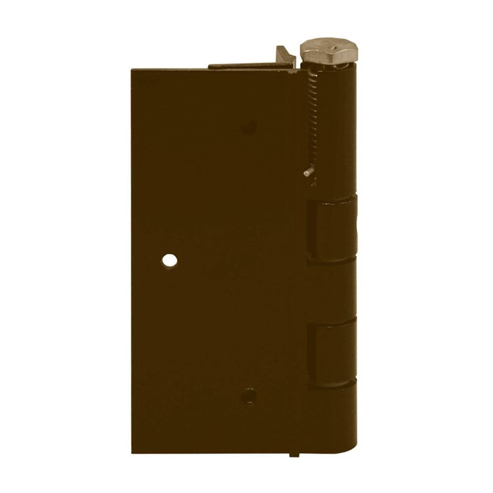 FORGERIGHT 5 in. Bronze Aluminum Self Closing Fence Gate Hinge-861616 -