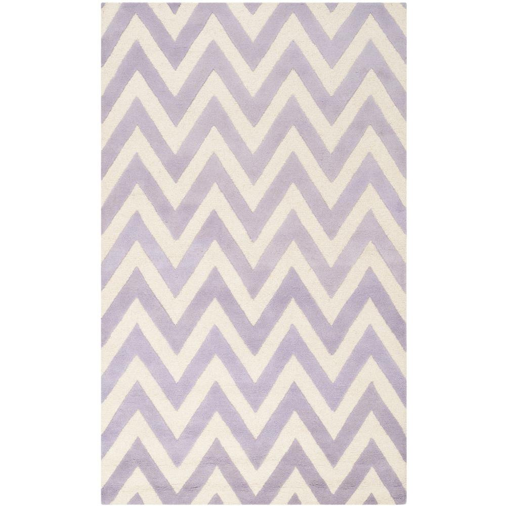 Cambridge Lavender/Ivory 5 ft. x 8 ft. Area Rug