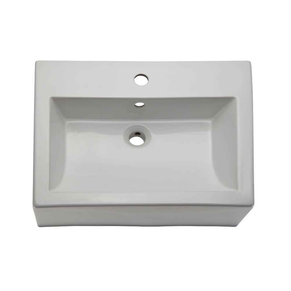 Classically Redefined Vessel Sink in White