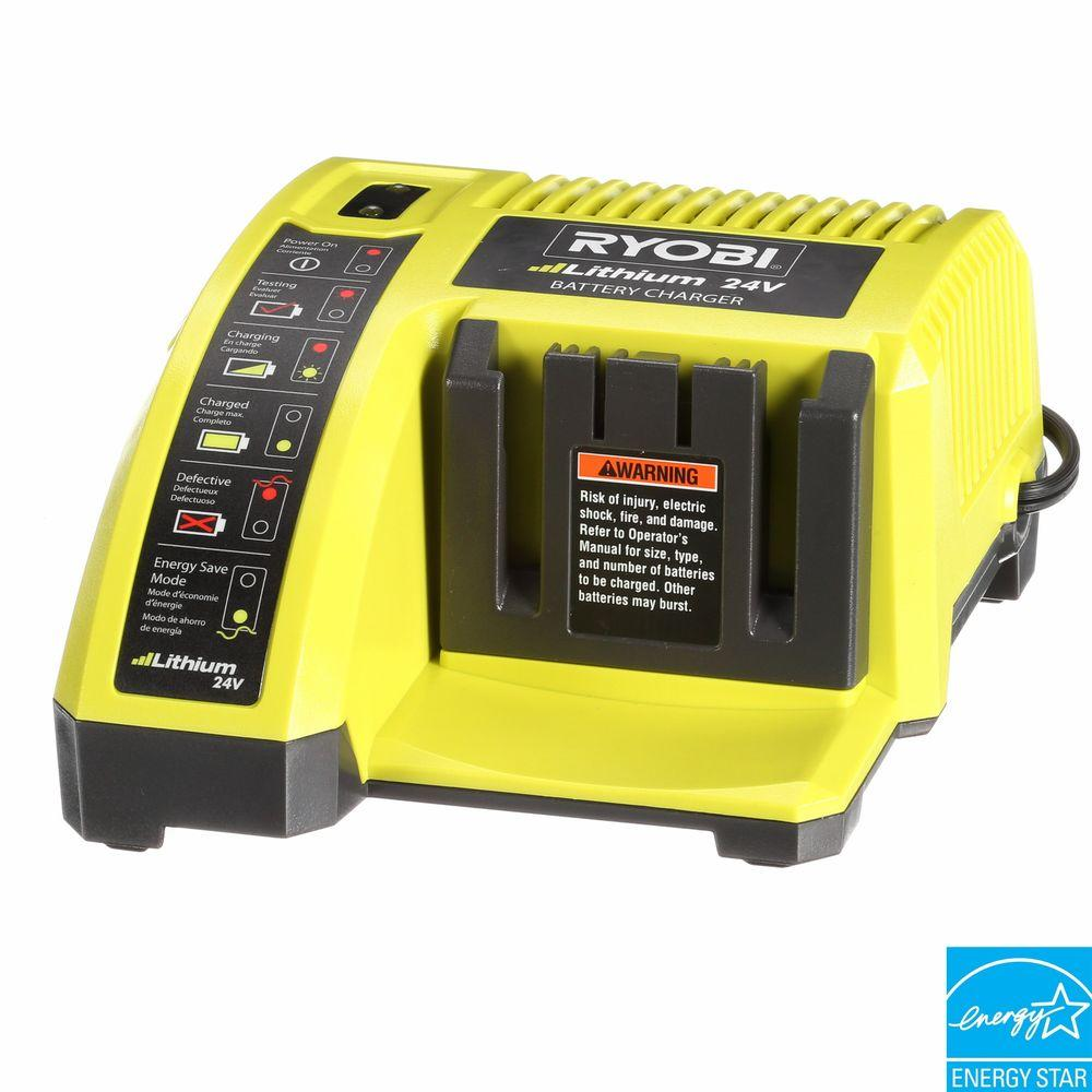 Ryobi Lawn Equipment 24-Volt Lithium Charger OP140A