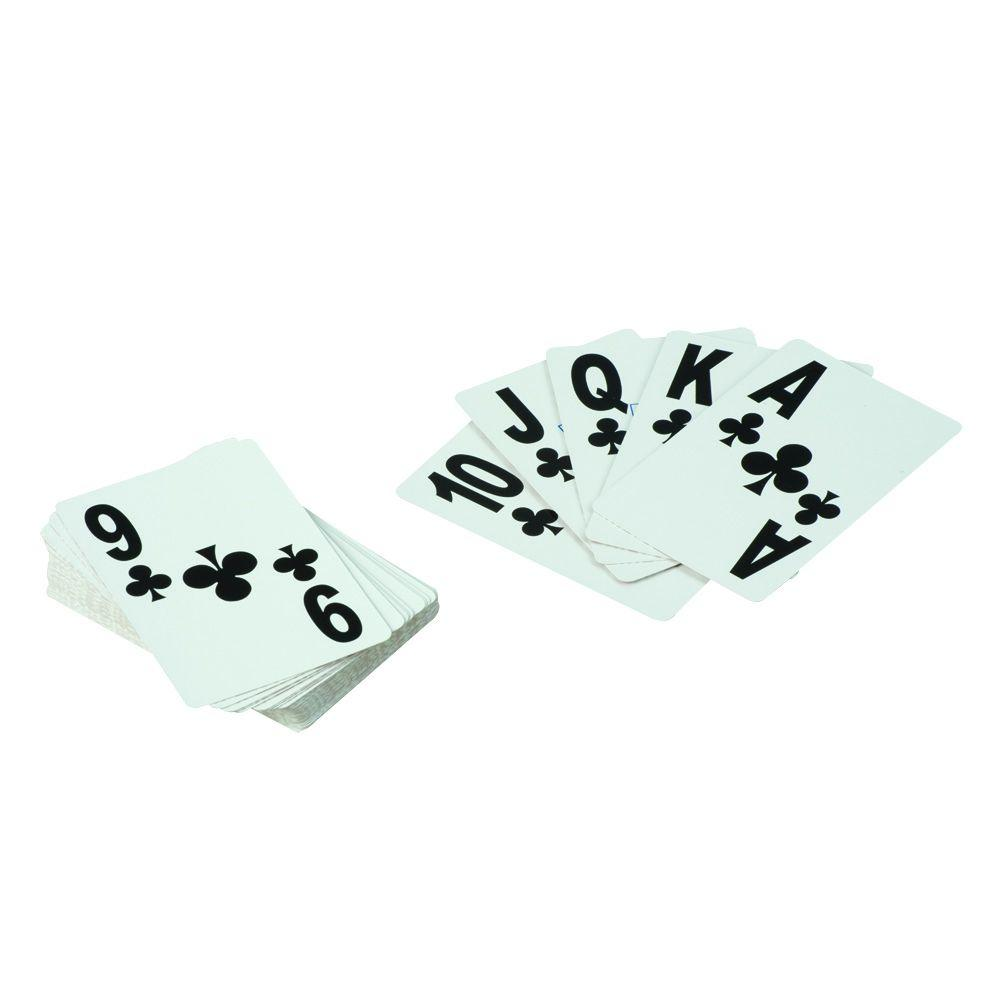 null Large Print Playing Cards in White