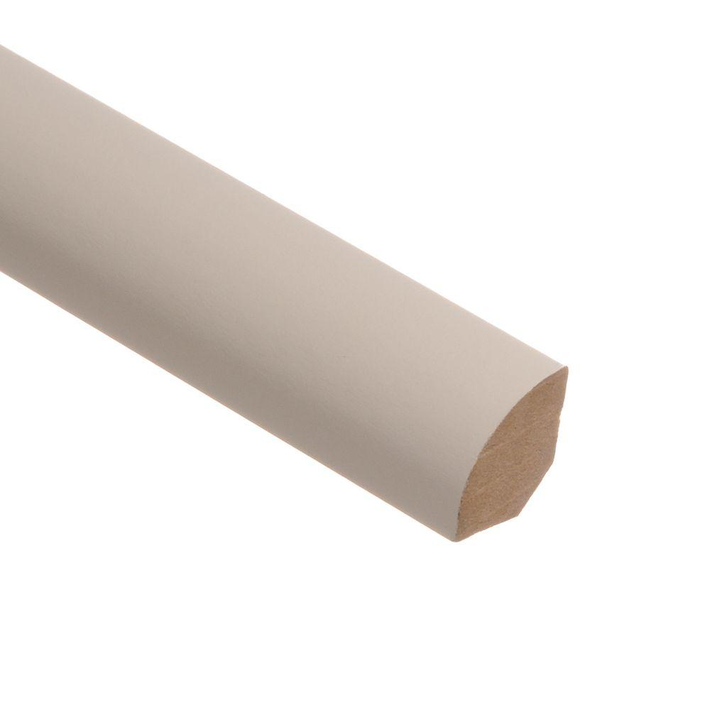 Zamma Recoatable White 5/8 in. Thick x 3/4 in. Wide x 94 in. Length Laminate Quarter Round Molding