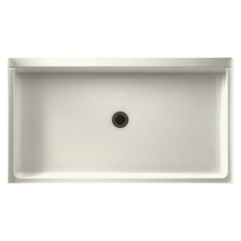 32 in. x 60 in. Single Threshold Shower Base in Bisque