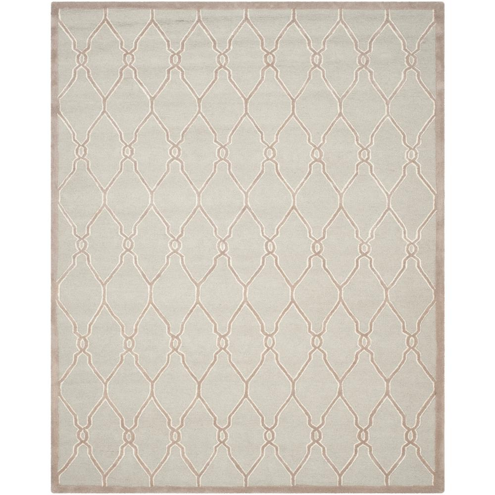 Cambridge Light Gray/Ivory 6 ft. x 9 ft. Area Rug