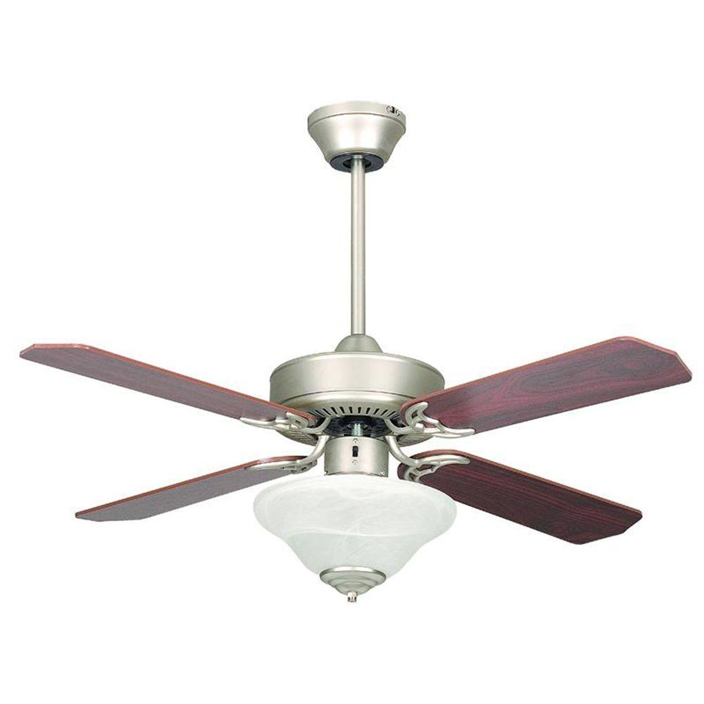 Concord Fans Heritage Square 42 in. Indoor Satin Nickel Ceiling Fan-42HES4ESN