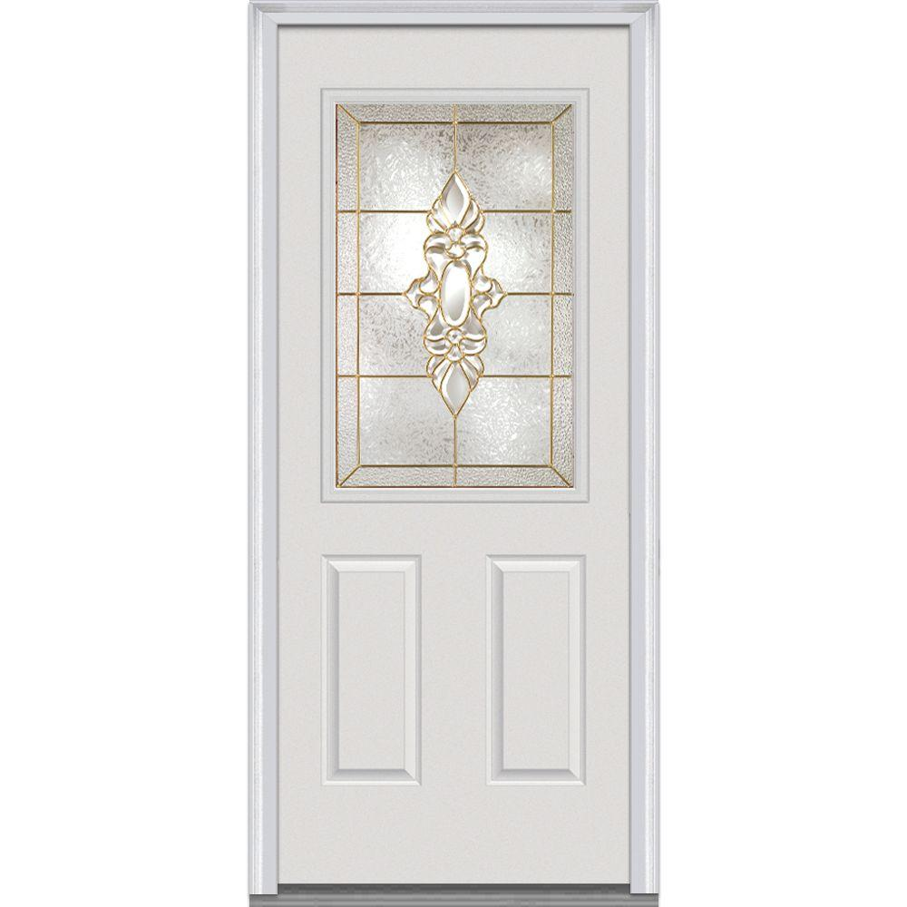 35.5 in. x 81.75 in. Heirloom Master Decorative Glass 1/2 Lite