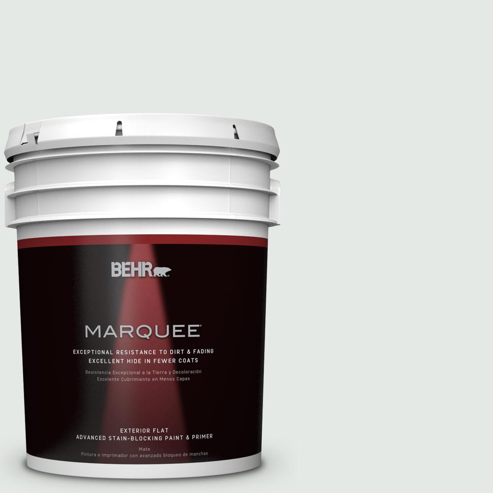 BEHR MARQUEE 5-gal. #BL-W7 Wind Chill Flat Exterior Paint-445005 - The