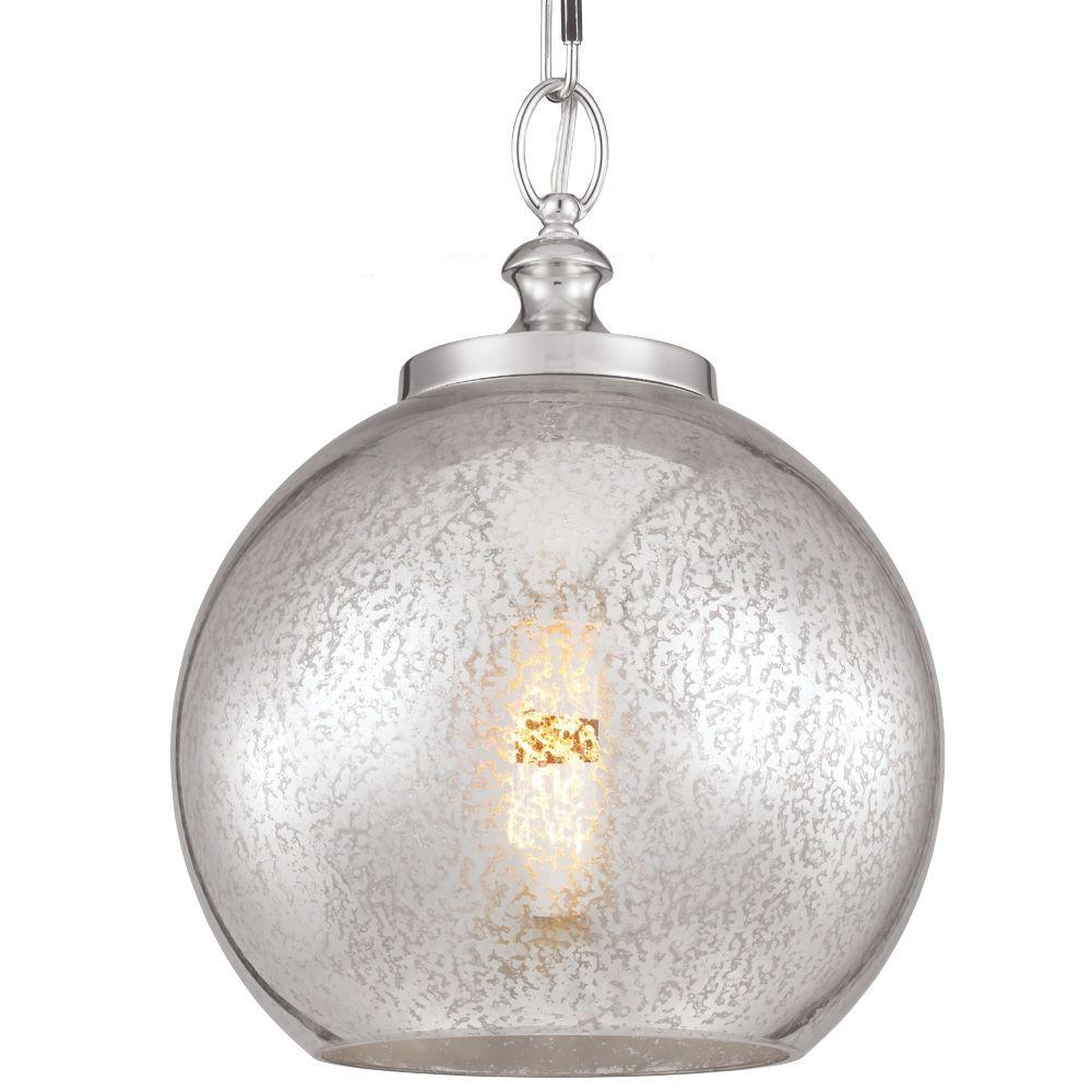 Feiss Tabby 1-Light Polished Nickel Pendant