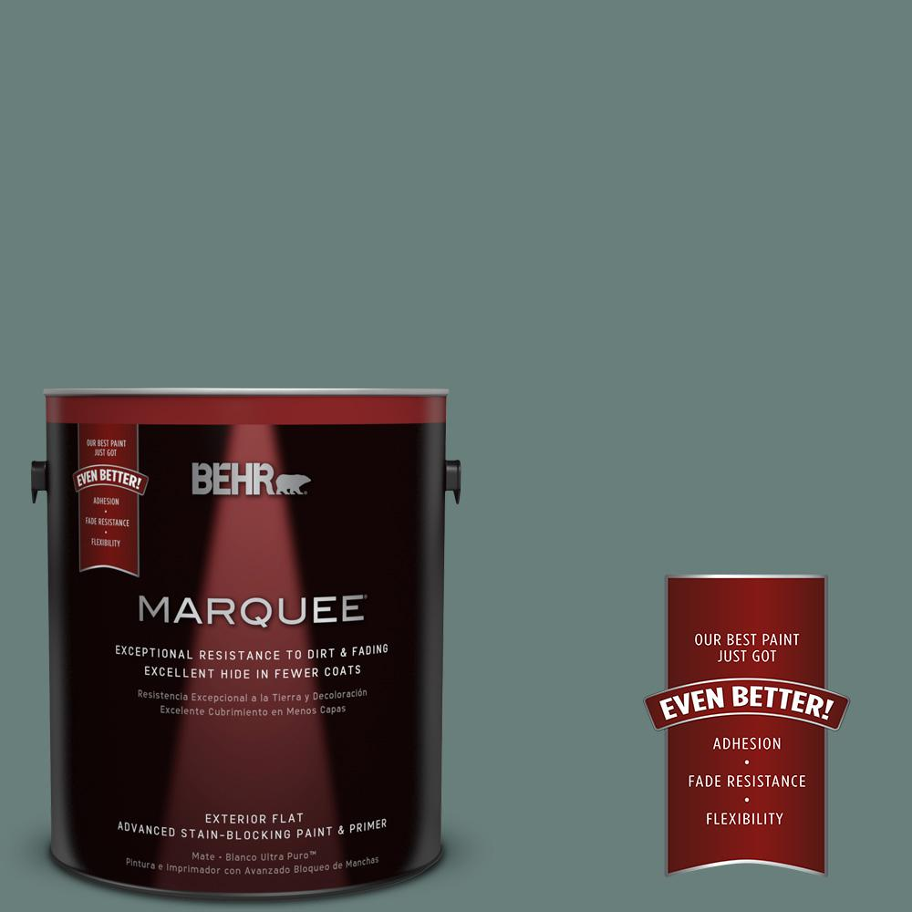 BEHR MARQUEE 1-gal. #N430-5 Aspen Valley Flat Exterior Paint
