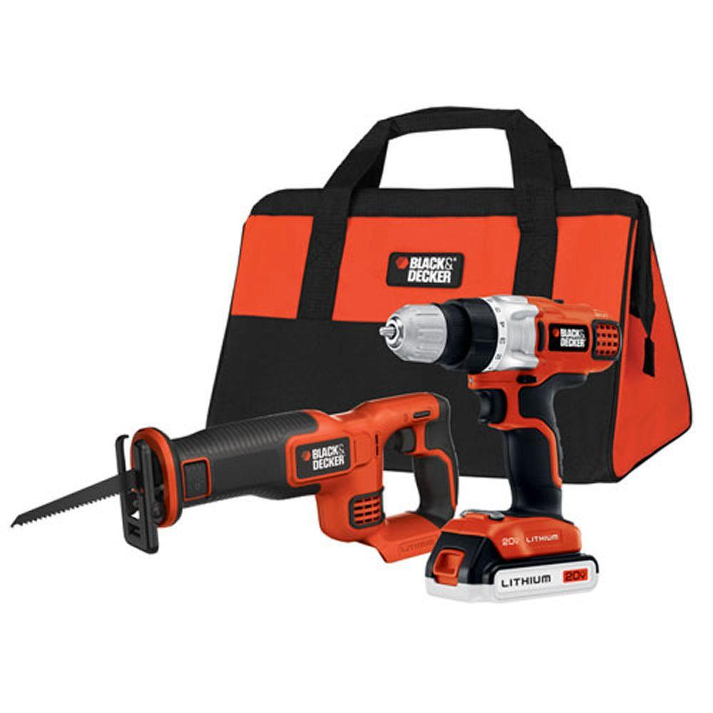 BLACK+DECKER 20-Volt MAX Lithium-Ion Cordless Drill/Driver and Reciprocal Saw Combo Kit (2-Tool)