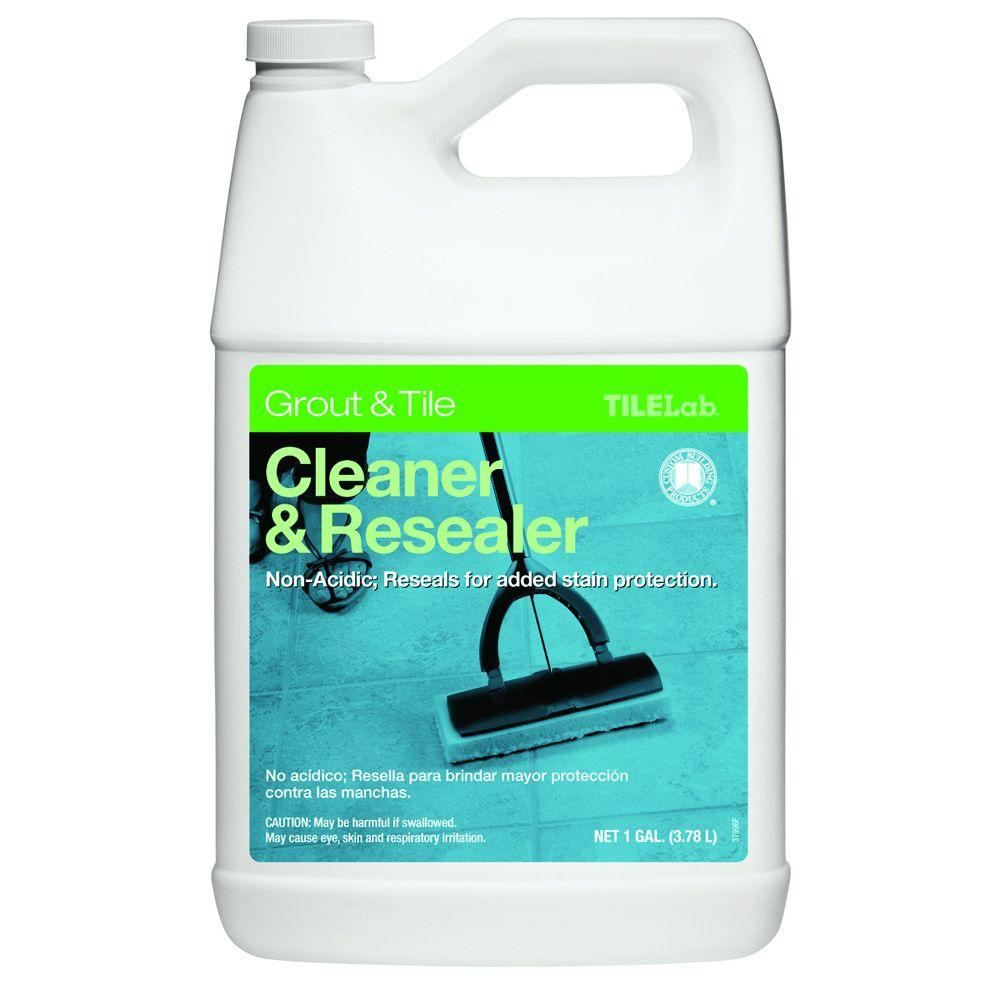 Custom Building Products TileLab 1 Gal. Grout and Tile Cleaner and Resealer