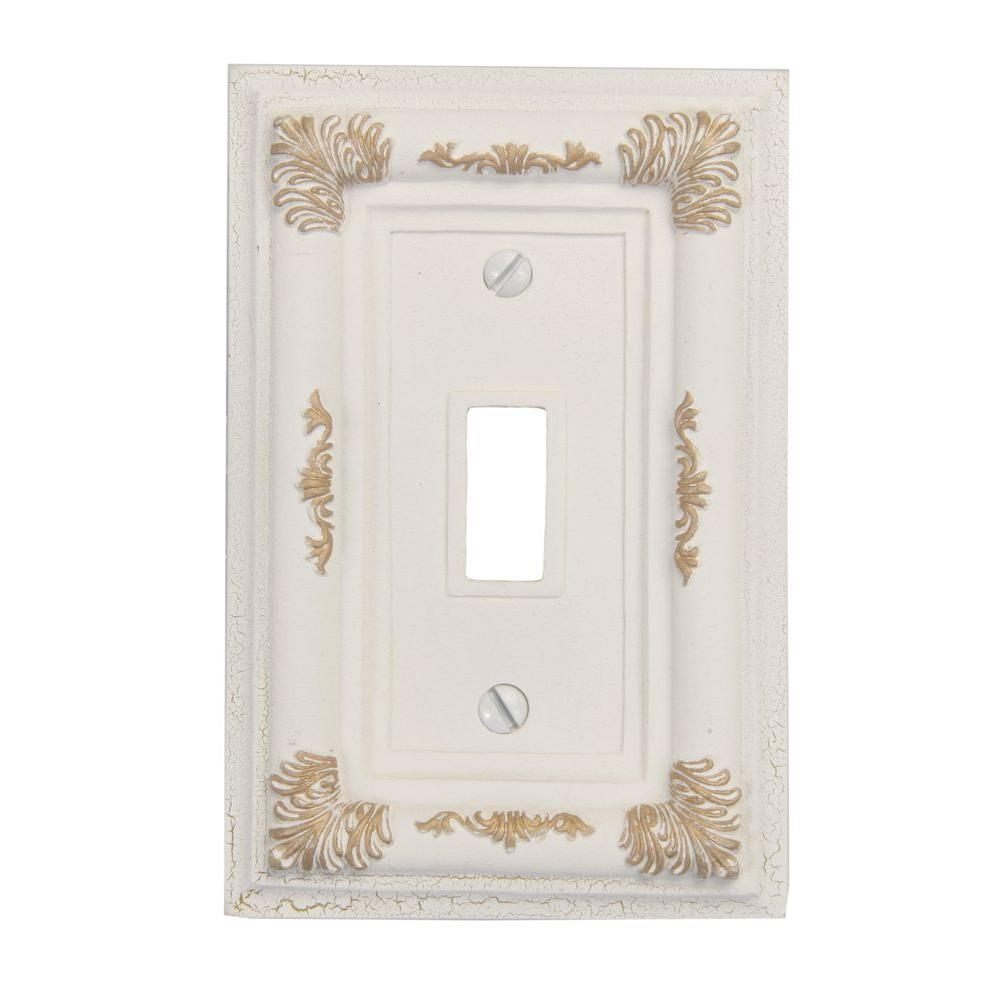 Isabella 2 Toggle Wall Plate - Antique White
