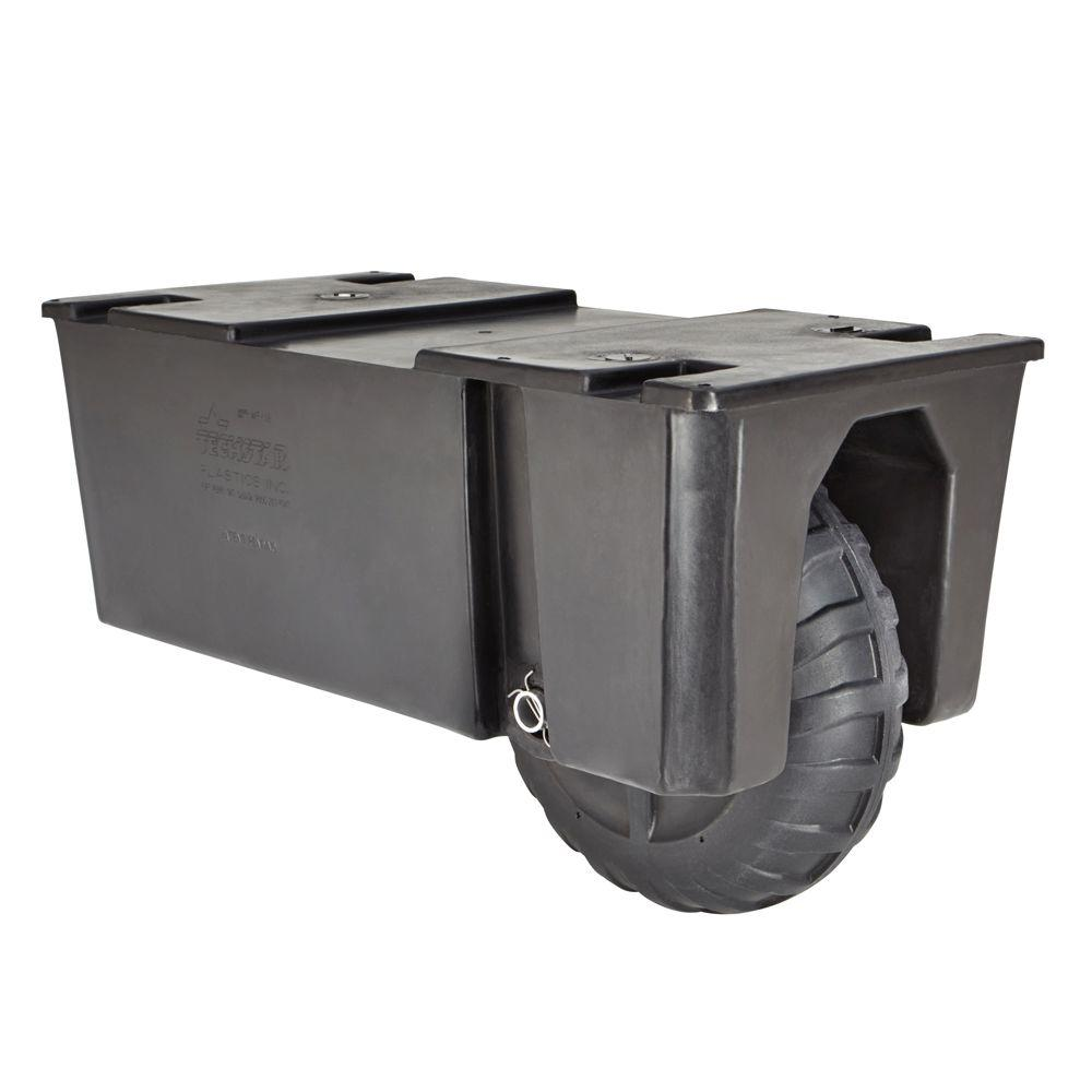 TechStar 24 in. x 48 in. x 18 in. Wheel Float Dock System Float Drum Distributed by Tommy Docks