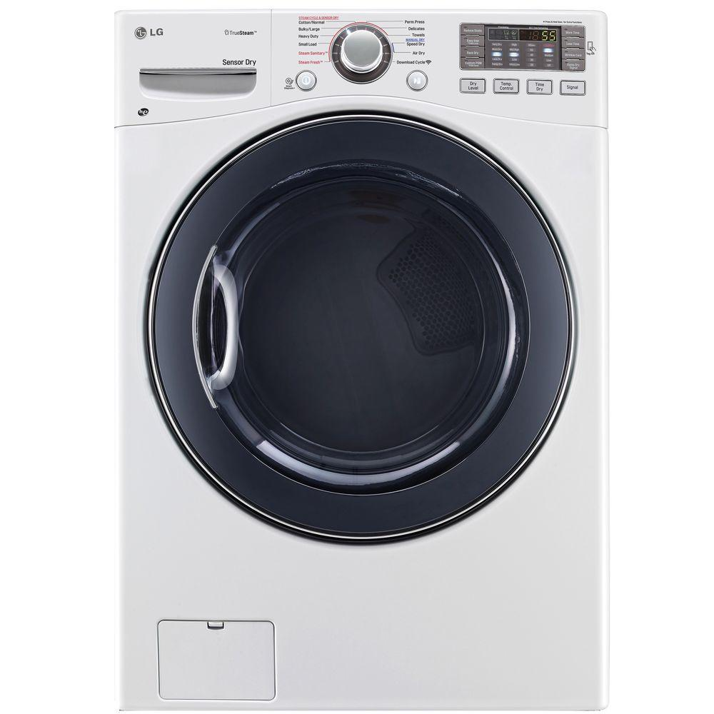 7.4 cu. ft. Electric Dryer with Steam in White