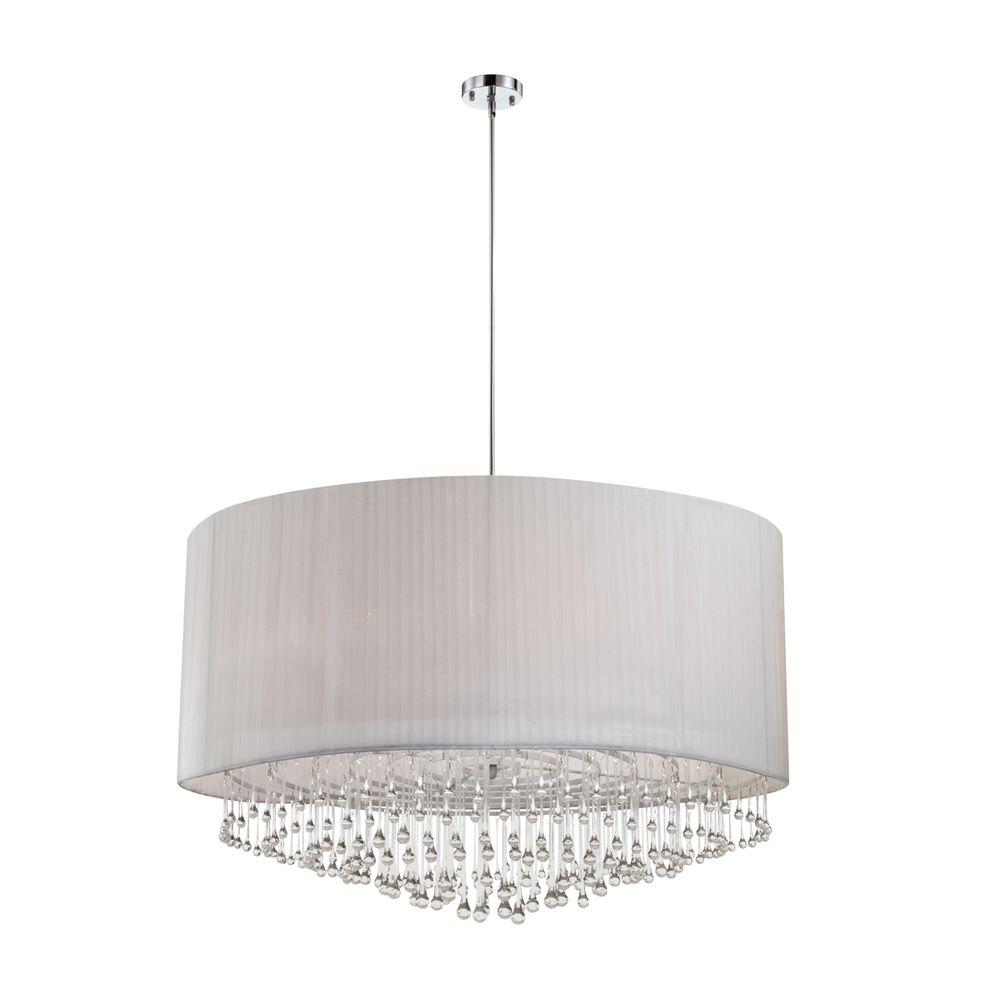 Eurofase Penchant Collection 12-Light Chrome and White Pendant-20587-024 - The