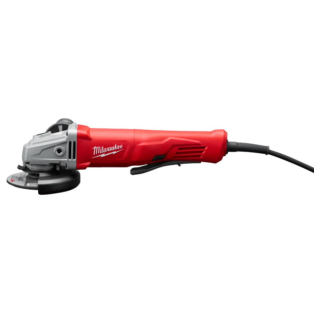 Milwaukee 11 Amp Corded 4-1/2 in. Small Angle Grinder Paddle Lock-On