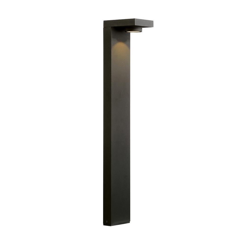 7-Watt Graphite Grey Outdoor Integrated LED 3000K Soft White Landscape Large