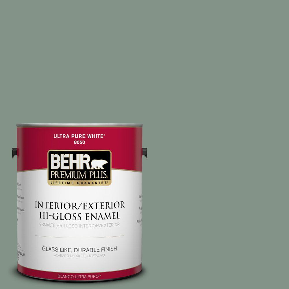 1-gal. #460F-4 Wethersfield Moss Hi-Gloss Enamel Interior/Exterior Paint