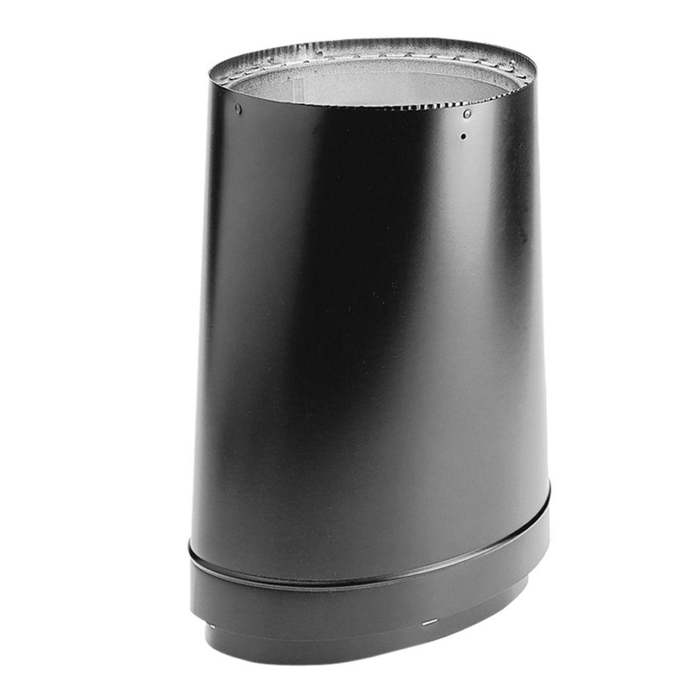 DVL 6 in. Oval-to-Round Adapter in Black