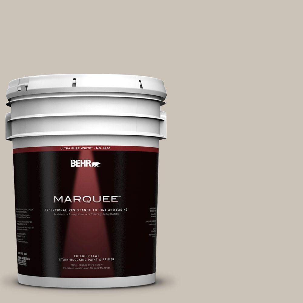 BEHR MARQUEE 5-gal. #720C-3 Wheat Bread Flat Exterior Paint