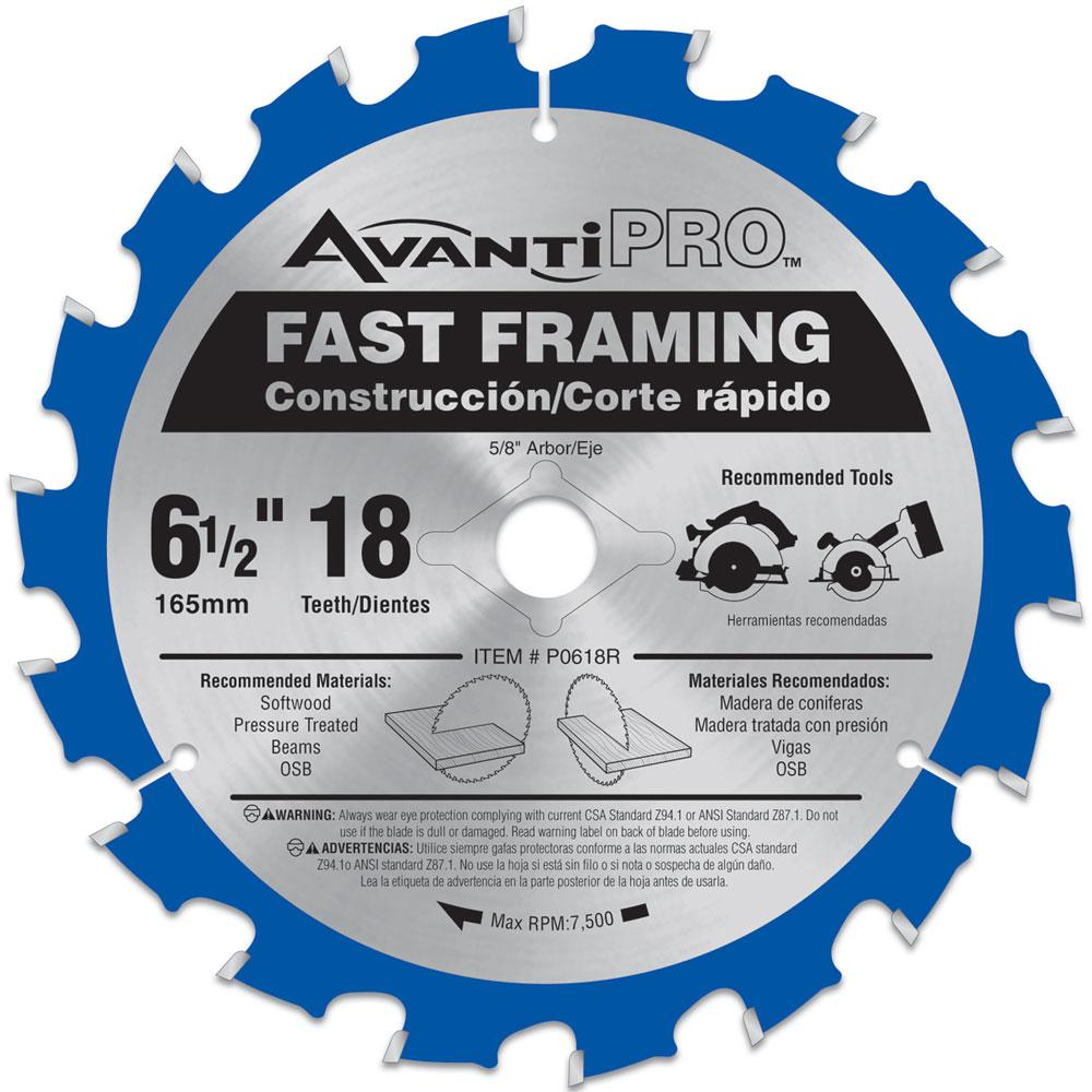 6-1/2 in. x 18-Tooth Fast Framing Saw Blade (2-Pack)