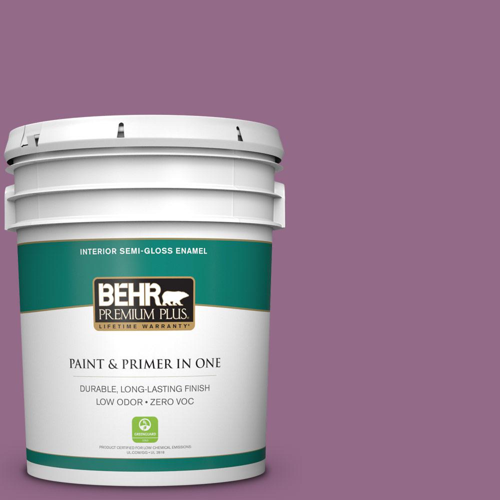 5-gal. #M110-6 Sophisticated Lilac Semi-Gloss Enamel Interior Paint