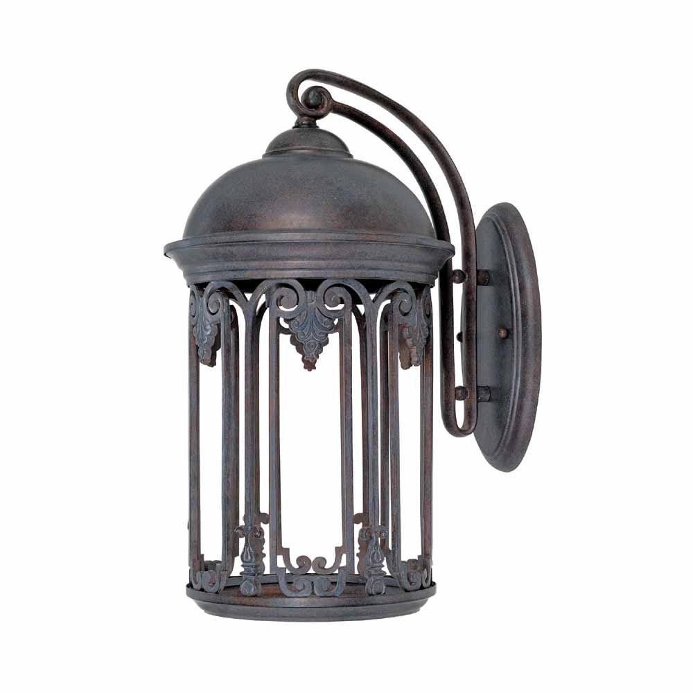 World Imports Dark Sky 9 in. Old Bronze Outdoor Wall Sconce-9713-19