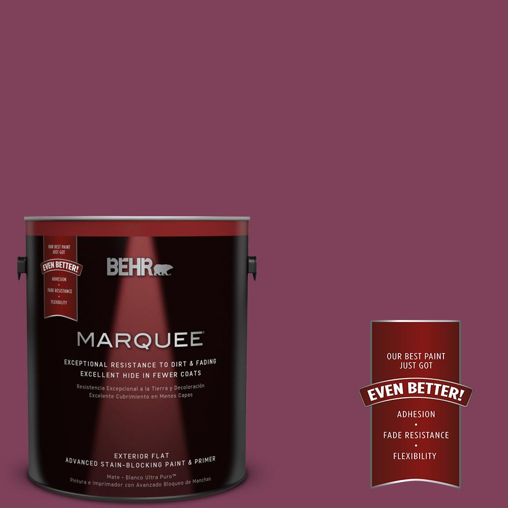 Home Decorators Collection 1-gal. #HDC-WR14-12 Cheerful Wine Flat Exterior Paint