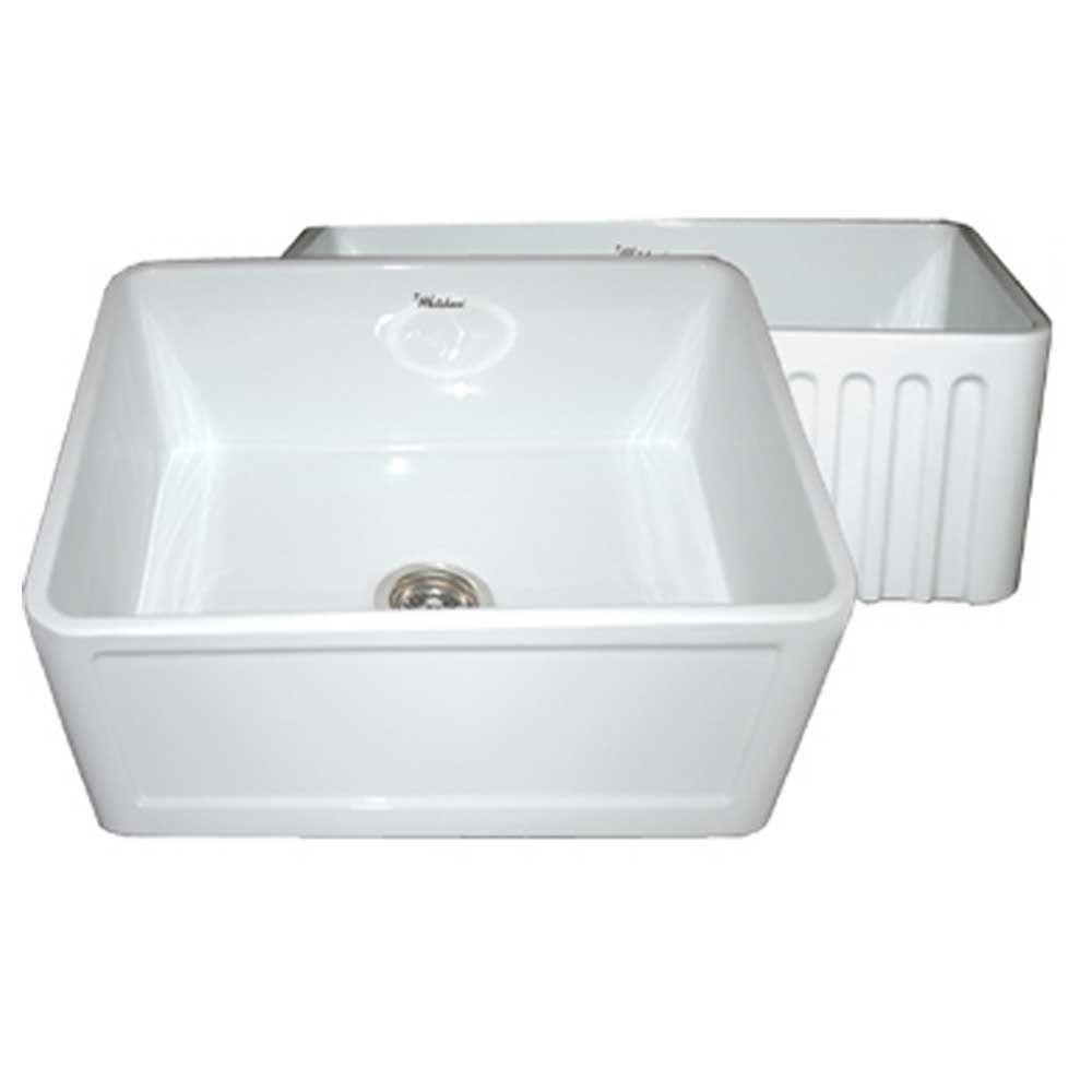 Single Bowl Apron Sink : ... Farmhaus Apron Front Fireclay 24 in. Single Bowl Kitchen Sink in White