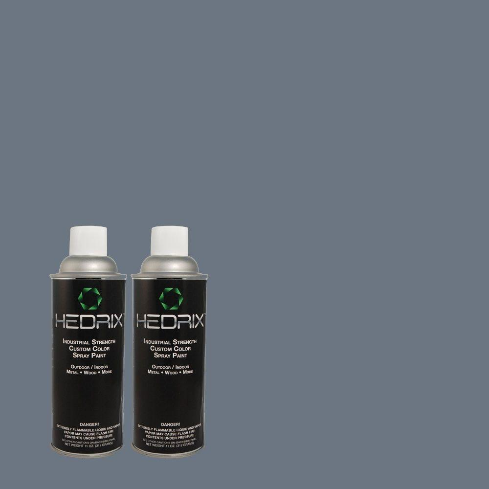 Hedrix 11 oz. Match of PPU14-1 Arrowhead Lake Low Lustre Custom Spray Paint (2-Pack)