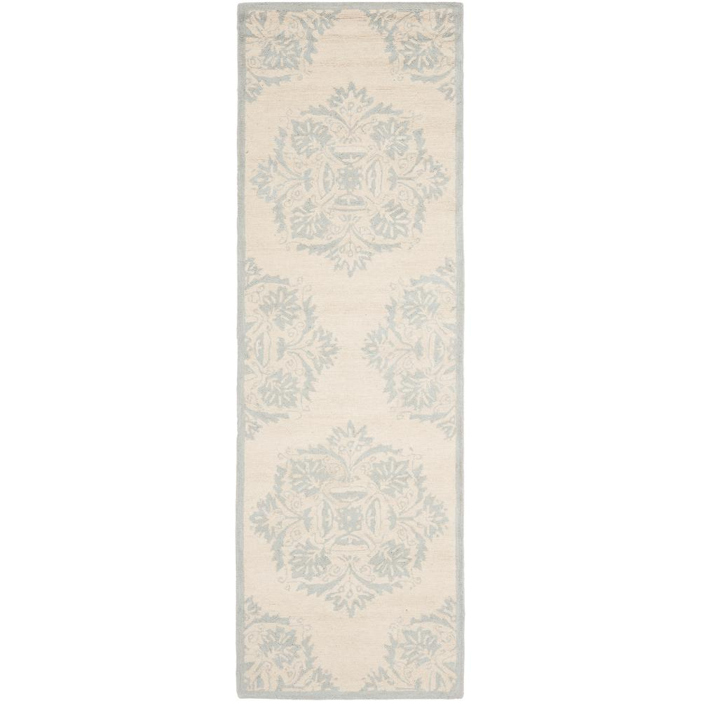 Chelsea Ivory/Blue 2 ft. 6 in. x 8 ft. Runner