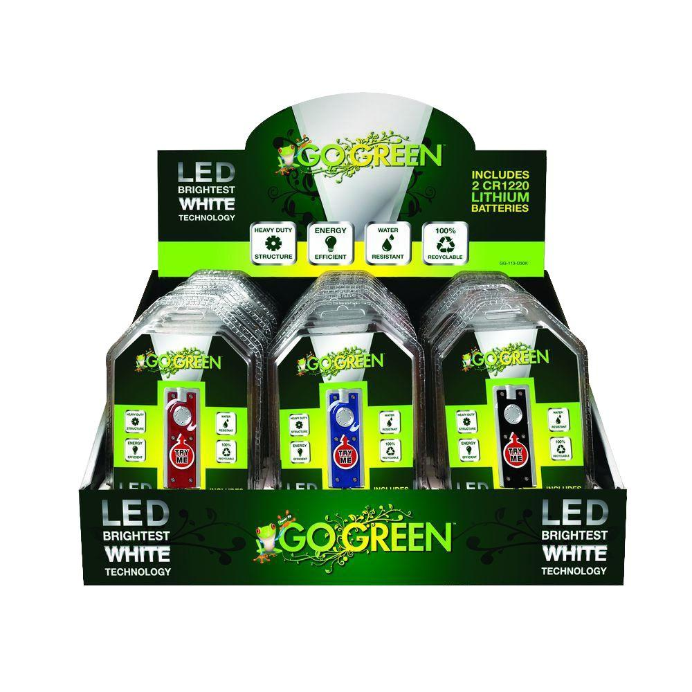 Power By Go Green LED Key Chains in 3 Assorted Colors (60 per Pack)