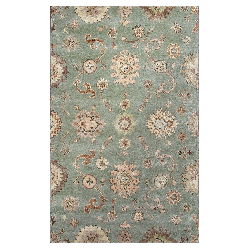 Kas Rugs Cascades Green/Ivory 3 ft. 6 in. x 5 ft.