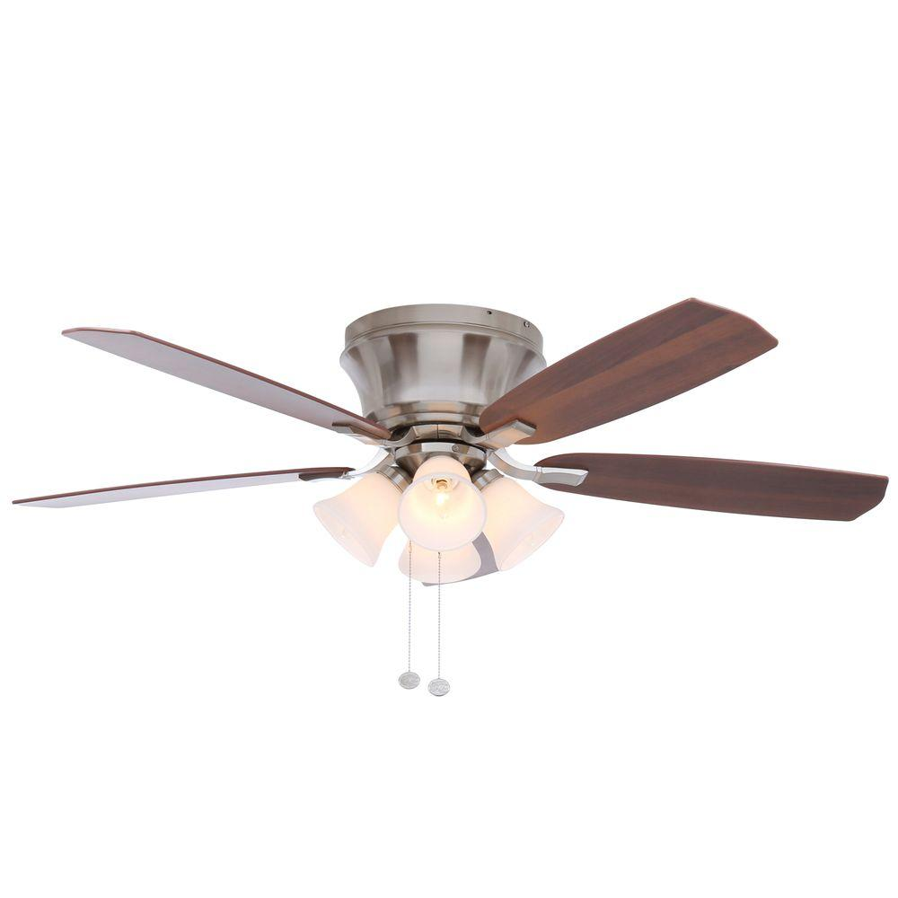 Hampton Bay Hollandale 52 in. Brushed Nickel Ceiling Fan-14414 - The