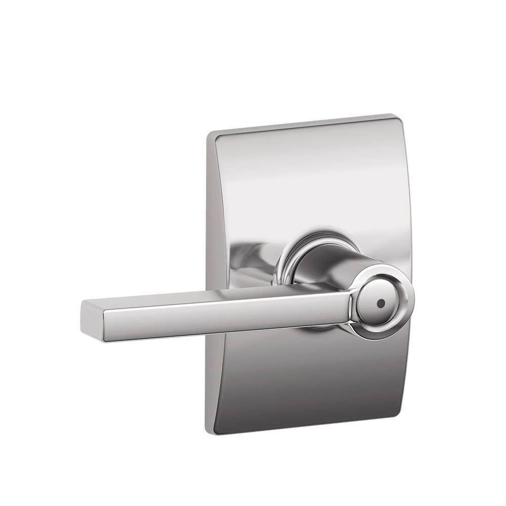 Latitude Bright Chrome Bed and Bath Lever with Century Trim