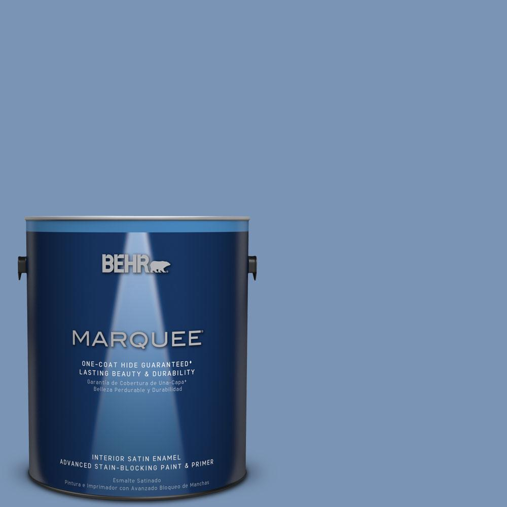 1 gal. #T13-5 Belladonna Satin Enamel Interior Paint