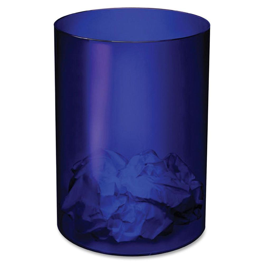 CEP 4.23 Gal. Ice Blue Round Transparent Trash Can-CEP5109404 - The