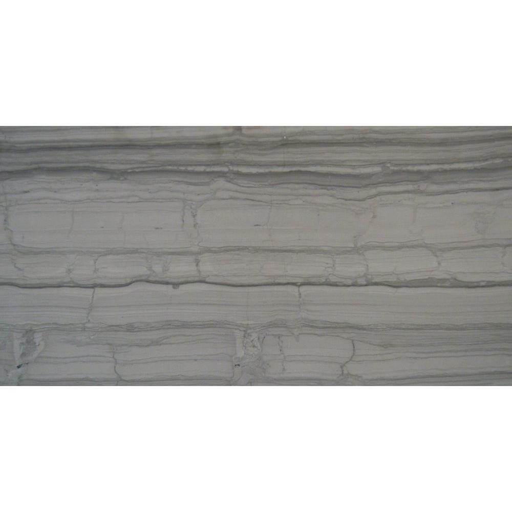 MS International Athens Grey 12 in. x 24 in. Polished Marble