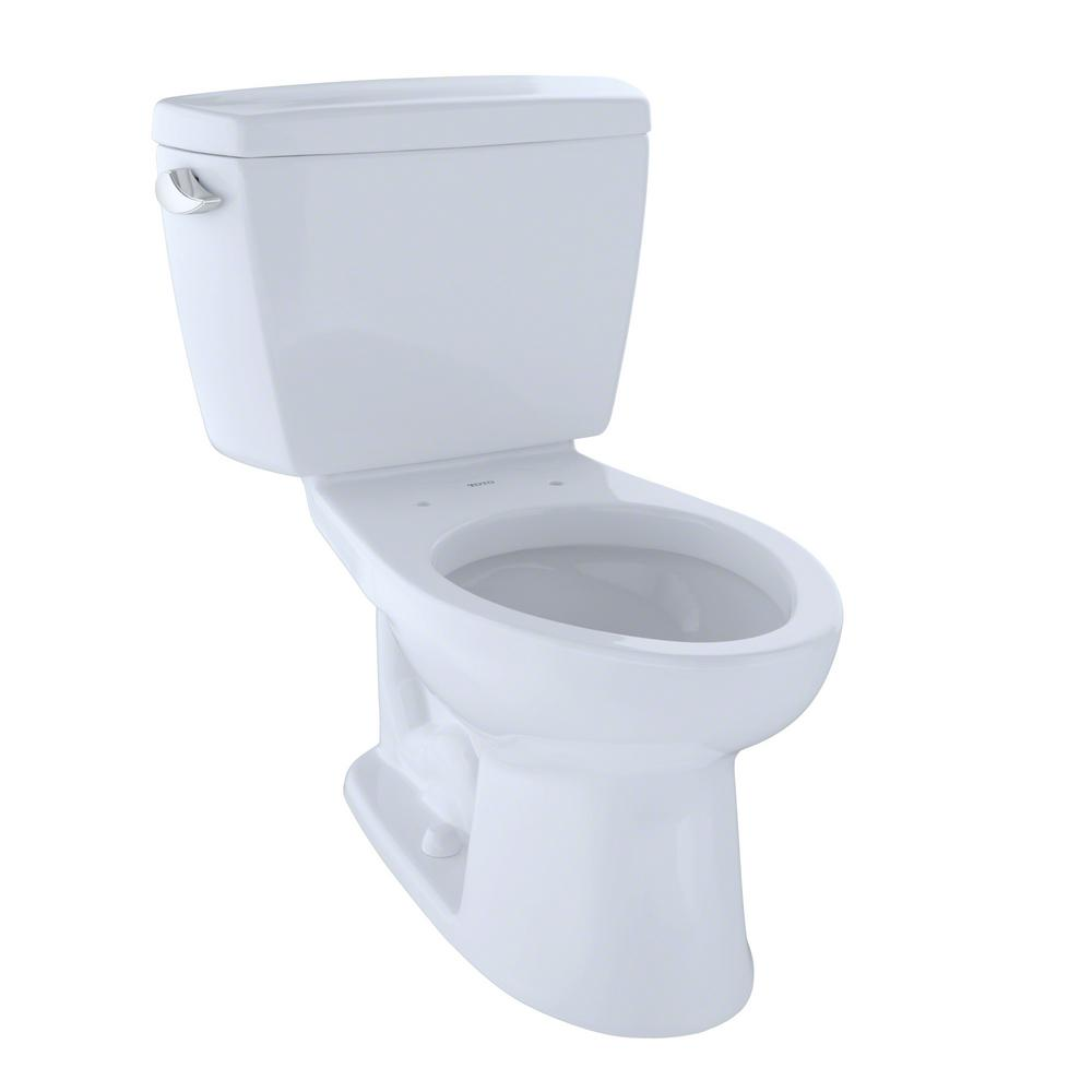 TOTO Drake 2-Piece 1.6 GPF Single Flush Elongated Toilet with 10 in ...