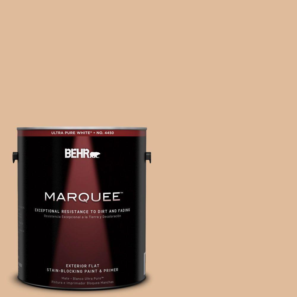 BEHR MARQUEE 1-gal. #270E-3 Only Natural Flat Exterior Paint-445401 - The