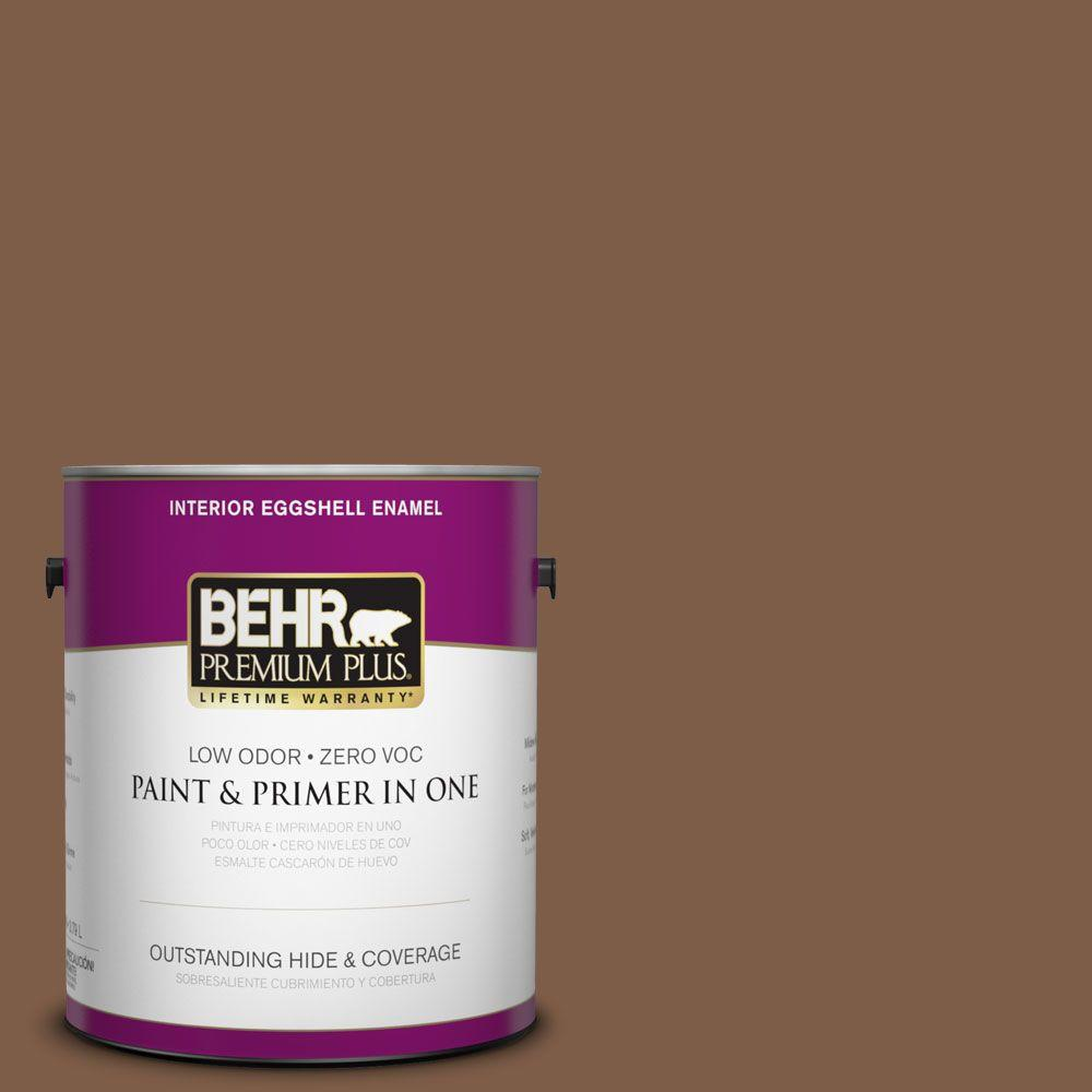 1-gal. #BXC-65 Outback Brown Eggshell Enamel Interior Paint
