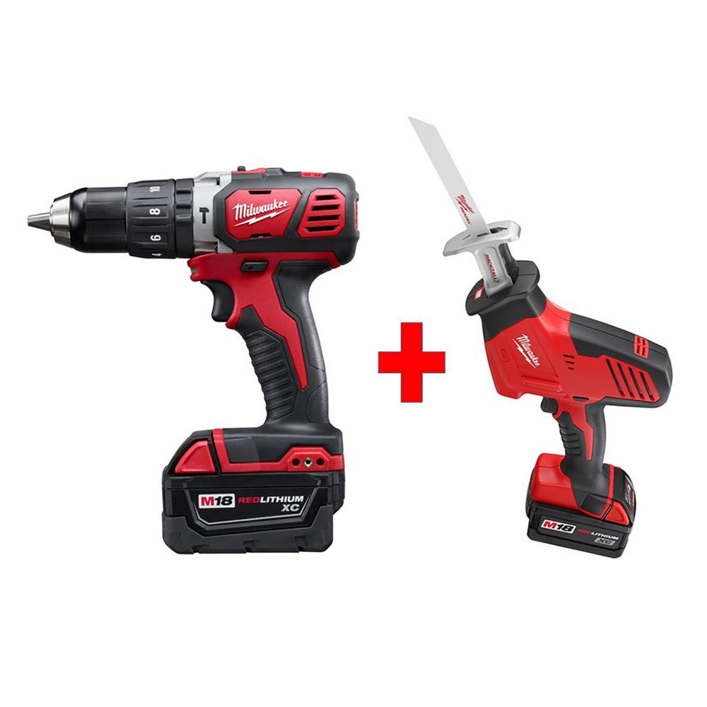 M18 18-Volt Lithium-Ion Cordless Hammer Drill/Hackzall Combo Kit (2-Tool)