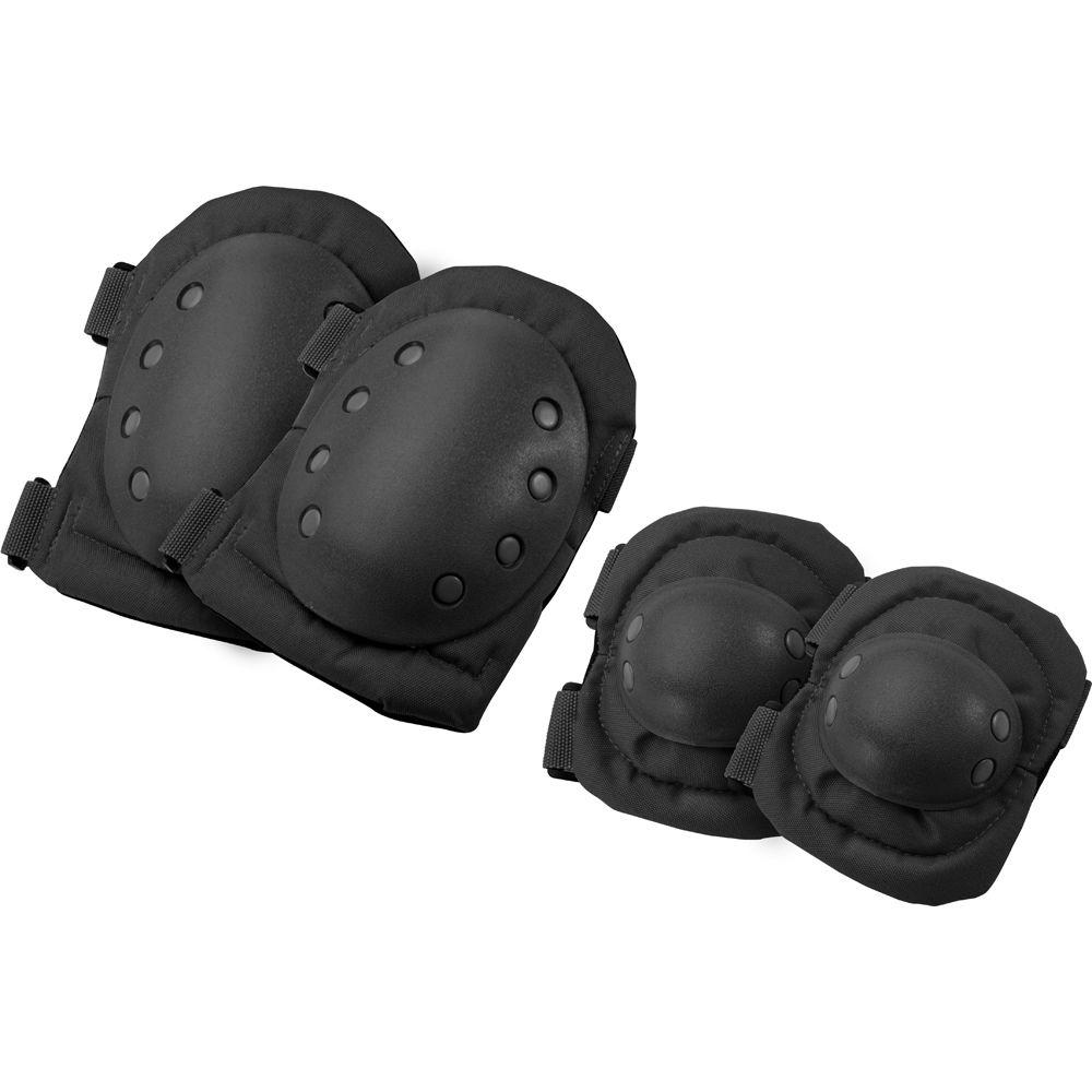 Loaded Gear 7.5 in. CX-400 Elbow and Knee Pads, Black
